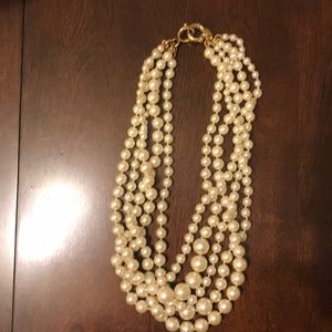J. Crew Multi-strand Pearl Necklace